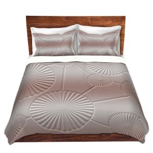 Artistic Duvet Covers and Shams Bedding | Susie Kunzelman - North East 3 Tan | Stripe pattern