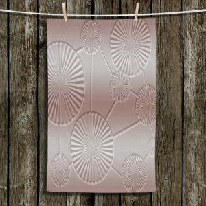 Unique Bathroom Towels | Susie Kunzelman - North East 3 Tan | Stripe pattern