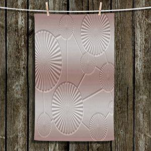 Unique Hanging Tea Towels | Susie Kunzelman - North East 3 Tan | Stripe pattern