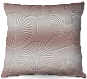 Decorative Outdoor Patio Pillow Cushion | Susie Kunzelman - North East 3 Tan | Stripe pattern