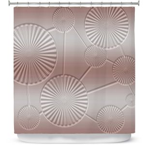 Premium Shower Curtains | Susie Kunzelman - North East 3 Tan | Stripe pattern