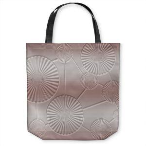 Unique Shoulder Bag Tote Bags | Susie Kunzelman - North East 3 Tan | Stripe pattern