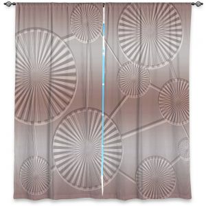 Decorative Window Treatments | Susie Kunzelman - North East 3 Tan | Stripe pattern