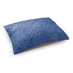 Decorative Dog Pet Beds | Susie Kunzelman - Nosegay Blue 2 | Flower Leaves Vines