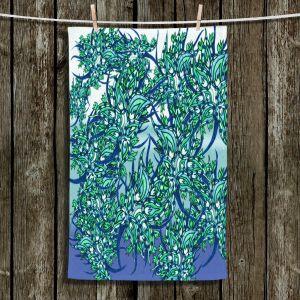 Unique Hanging Tea Towels | Susie Kunzelman - Nosegay Milky Blue