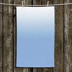 Unique Hanging Tea Towels | Susie Kunzelman - Ombre Airy Blue | Ombre Monochromatic