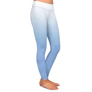 Casual Comfortable Leggings | Susie Kunzelman - Ombre Airy Blue | Ombre Monochromatic