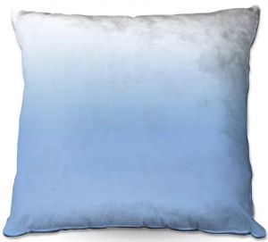 Decorative Outdoor Patio Pillow Cushion | Susie Kunzelman - Ombre Airy Blue | Ombre Monochromatic