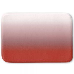Decorative Bathroom Mats | Susie Kunzelman - Ombre Aurora Red