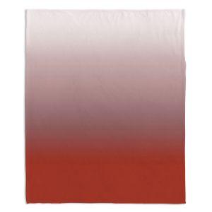 Artistic Sherpa Pile Blankets | Susie Kunzelman - Ombre Aurora Red
