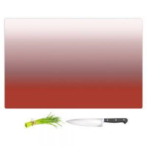 Artistic Kitchen Bar Cutting Boards | Susie Kunzelman - Ombre Aurora Red