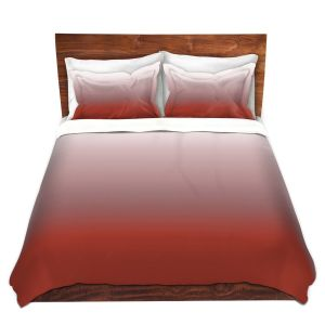 Artistic Duvet Covers and Shams Bedding | Susie Kunzelman - Ombre Aurora Red