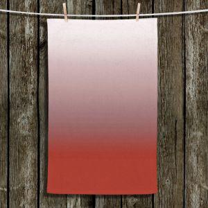 Unique Hanging Tea Towels | Susie Kunzelman - Ombre Aurora Red | Ombre