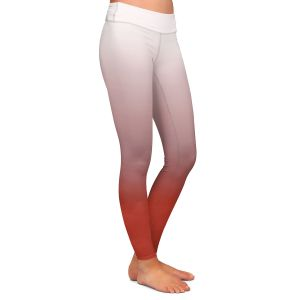 Casual Comfortable Leggings | Susie Kunzelman - Ombre Aurora Red
