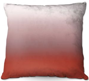 Decorative Outdoor Patio Pillow Cushion   Susie Kunzelman - Ombre Aurora Red