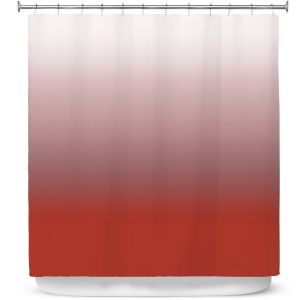 Premium Shower Curtains | Susie Kunzelman - Ombre Aurora Red