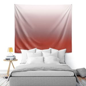 Artistic Wall Tapestry | Susie Kunzelman - Ombre Aurora Red