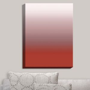 Decorative Canvas Wall Art | Susie Kunzelman - Ombre Aurora Red | Ombre