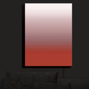 Nightlight Sconce Canvas Light | Susie Kunzelman - Ombre Aurora Red | Ombre