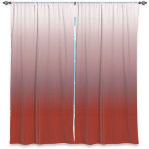 Decorative Window Treatments | Susie Kunzelman - Ombre Aurora Red