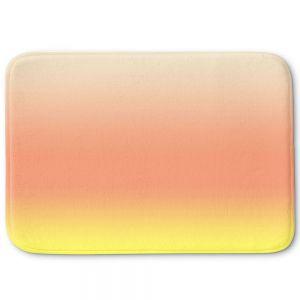 Decorative Bathroom Mats | Susie Kunzelman - Ombre Enjoyable Yellow