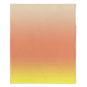 Decorative Fleece Throw Blankets | Susie Kunzelman - Ombre Enjoyable Yellow