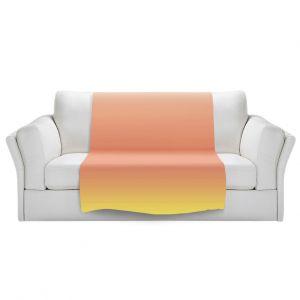 Artistic Sherpa Pile Blankets   Susie Kunzelman - Ombre Enjoyable Yellow