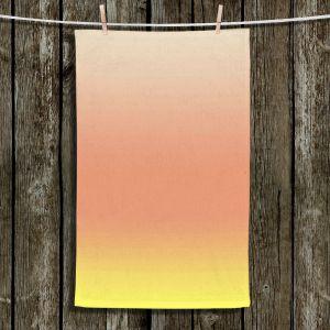 Unique Hanging Tea Towels | Susie Kunzelman - Ombre Enjoyable Yellow | Ombre