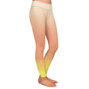 Casual Comfortable Leggings | Susie Kunzelman - Ombre Enjoyable Yellow