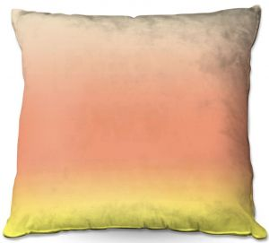 Decorative Outdoor Patio Pillow Cushion | Susie Kunzelman - Ombre Enjoyable Yellow
