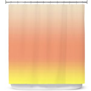 Premium Shower Curtains | Susie Kunzelman - Ombre Enjoyable Yellow