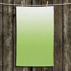 Unique Bathroom Towels | Susie Kunzelman - Ombre Light Avocado | Ombre Monochromatic