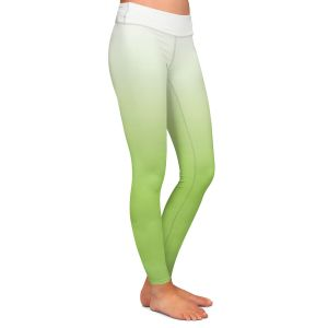 Casual Comfortable Leggings | Susie Kunzelman - Ombre Light Avocado | Ombre Monochromatic