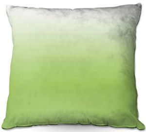 Decorative Outdoor Patio Pillow Cushion | Susie Kunzelman - Ombre Light Avocado | Ombre Monochromatic
