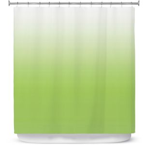 Premium Shower Curtains | Susie Kunzelman - Ombre Light Avocado | Ombre Monochromatic