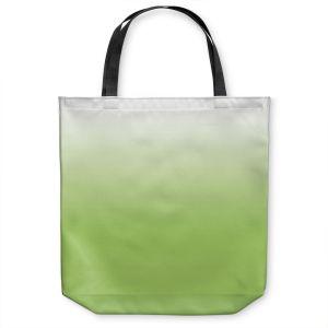 Unique Shoulder Bag Tote Bags | Susie Kunzelman - Ombre Light Avocado | Ombre Monochromatic