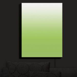 Nightlight Sconce Canvas Light | Susie Kunzelman - Ombre Light Avocado