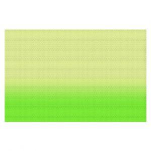 Decorative Floor Coverings | Susie Kunzelman - Ombre Lime Green