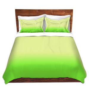 Artistic Duvet Covers and Shams Bedding | Susie Kunzelman - Ombre Lime Green