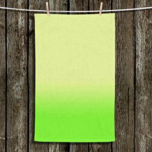 Unique Hanging Tea Towels | Susie Kunzelman - Ombre Lime Green | Ombre