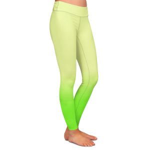 Casual Comfortable Leggings | Susie Kunzelman - Ombre Lime Green