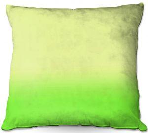 Throw Pillows Decorative Artistic | Susie Kunzelman - Ombre Lime Green