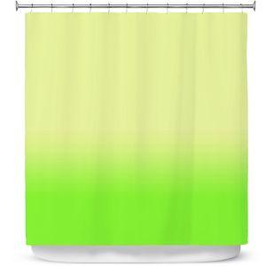 Premium Shower Curtains   Susie Kunzelman - Ombre Lime Green