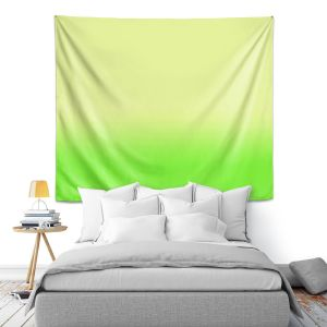 Artistic Wall Tapestry | Susie Kunzelman - Ombre Lime Green
