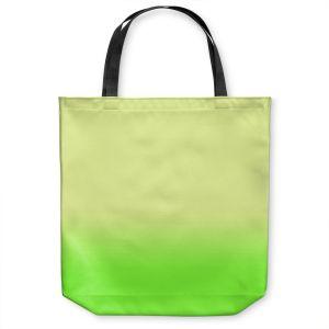 Unique Shoulder Bag Tote Bags |Susie Kunzelman - Ombre Lime Green