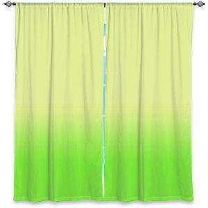 Decorative Window Treatments | Susie Kunzelman - Ombre Lime Green