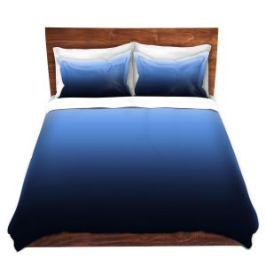Artistic Duvet Covers and Shams Bedding | Susie Kunzelman - Ombre Midnight | Ombre Monochromatic