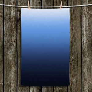 Unique Hanging Tea Towels | Susie Kunzelman - Ombre Midnight | Ombre Monochromatic