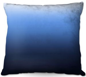 Decorative Outdoor Patio Pillow Cushion | Susie Kunzelman - Ombre Midnight | Ombre Monochromatic