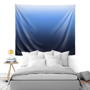 Artistic Wall Tapestry   Susie Kunzelman - Ombre Midnight   Ombre Monochromatic
